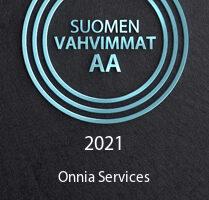 Suomen vahvimmat -sertifikaatti Onnialle